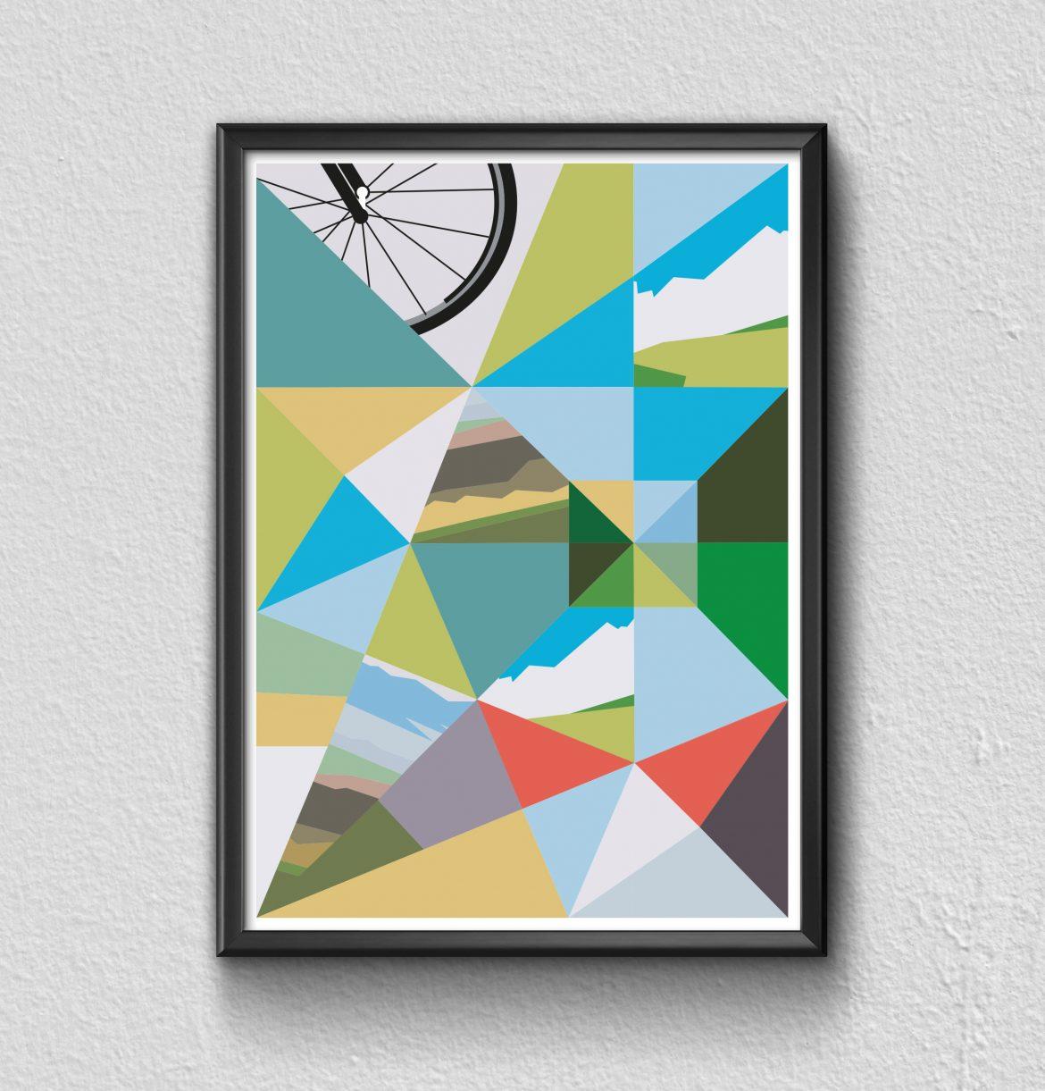 Cycle Joy framed print