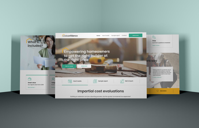 Cost Confidence website design