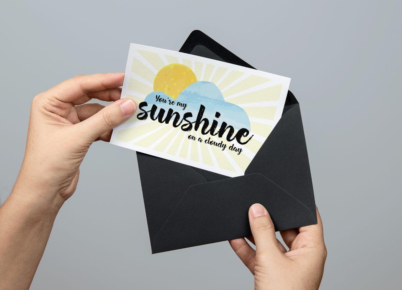 You're my sunshine postcard