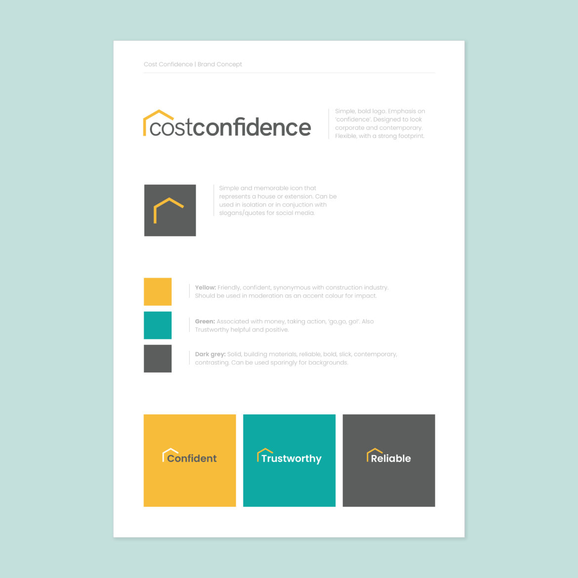 Cost Confidence brand guide