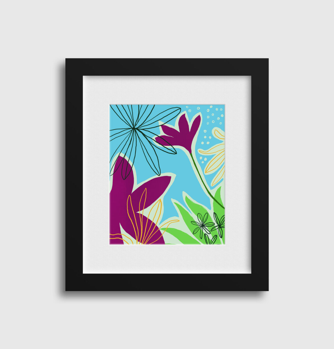 Then it was spring art print